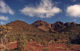 Picture of some mountains in the Flinders
