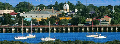 Picture of the Port Augusta wharf from the Westside
