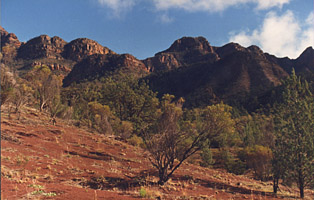 Picture of mountains in the Flinders