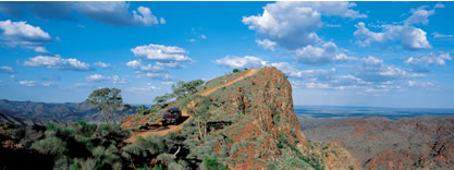 Arial picture of the Flinders Ranges