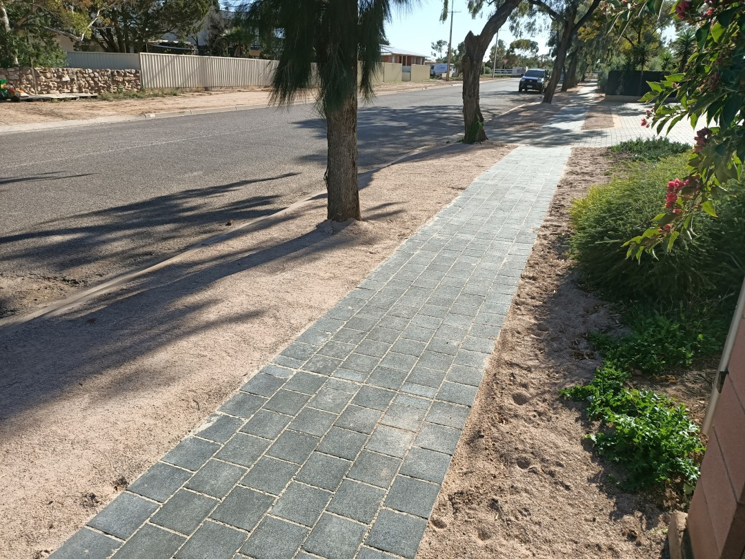 Progress Avenue finished paved footpath